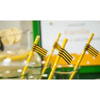 Zászló szívószálra - Méhecske