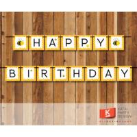 Happy Birthday! girland - Méhecske