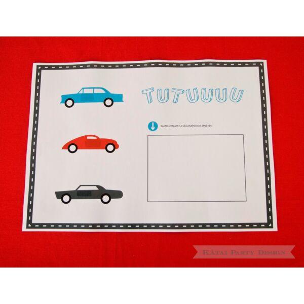 Tányéralátét - Autó