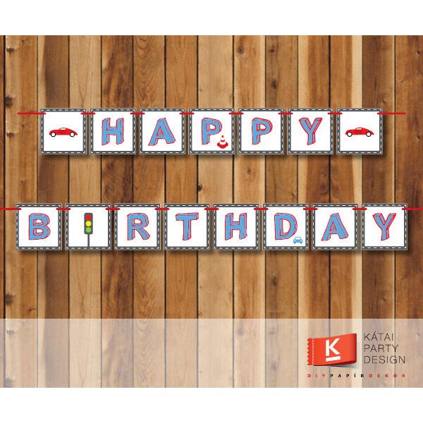 Happy Birthday! girland - Autó
