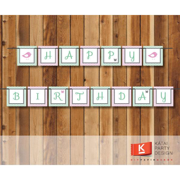 Happy Birthday! girland - Baby Girl PDF