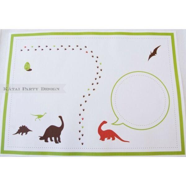 Tányéralátét - Dinoszaurusz