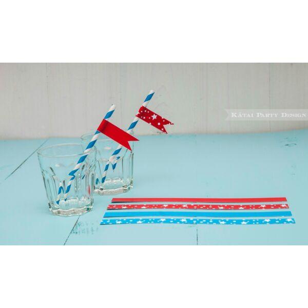 Zászló szívószálra - Robot
