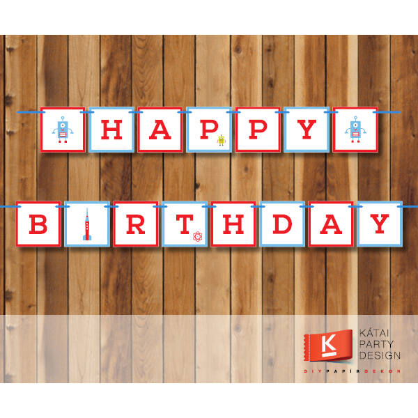 Happy Birthday! girland - Robot