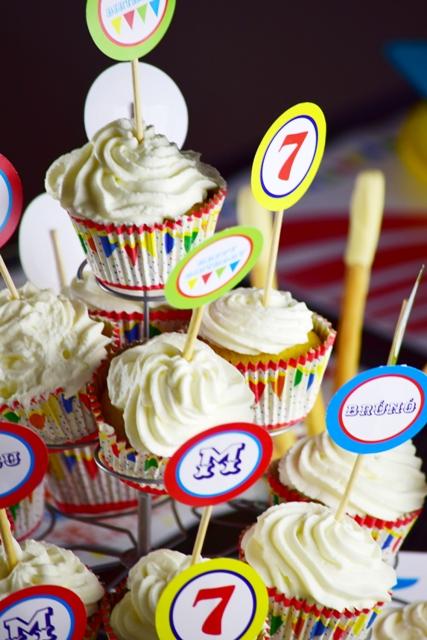 Cirkusz party_cupcake