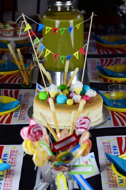 Cirkusz party_asztal