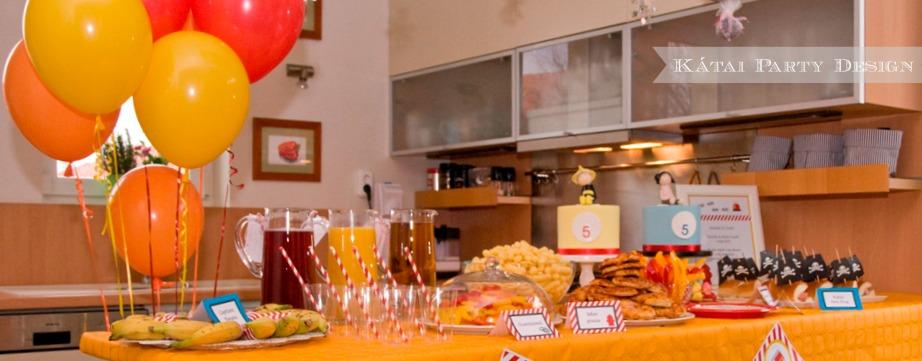 Tűzoltó és Kalóz Party-Svedasztal